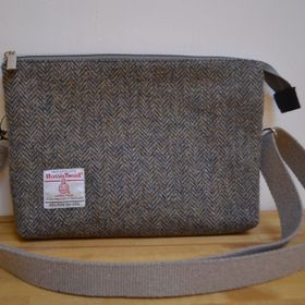 'Lorna' Crossbody bag - grey/brown